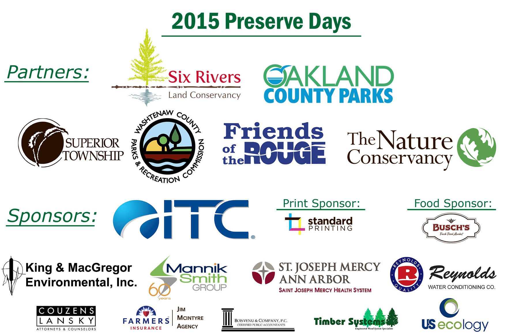 Southeast Michigan Land Conservancy 2015 Partners