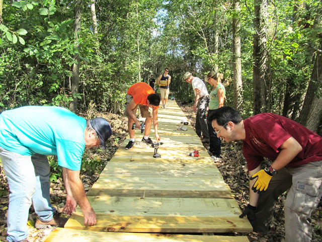 201 REI Boardwalk project at LeFurge Woods Nature Preserve